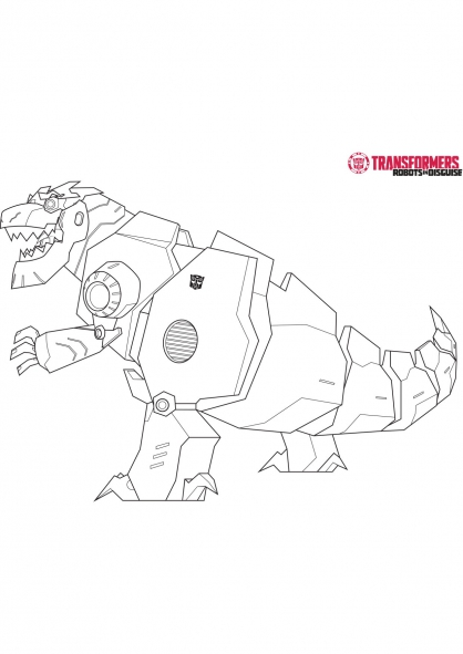 Coloriage grimlock 1 coloriage transformers robots in - Dessin anime transformers ...