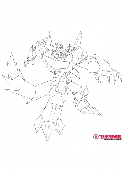 Coloriage Steeljaw 1