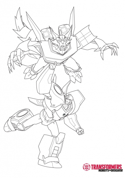 Coloriage stelljaw et bumblebee 1 coloriage transformers robots in disguise coloriage - Dessin de transformers ...
