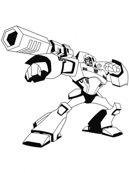 Coloriage Transformers : Attaque Mégatron