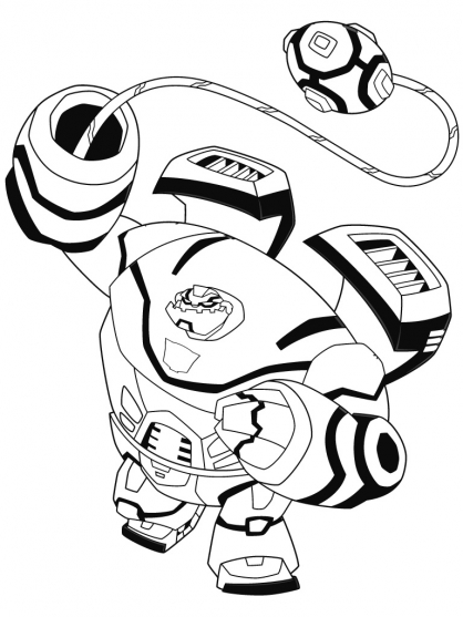 Coloriage Transformers : Bulkhead 2