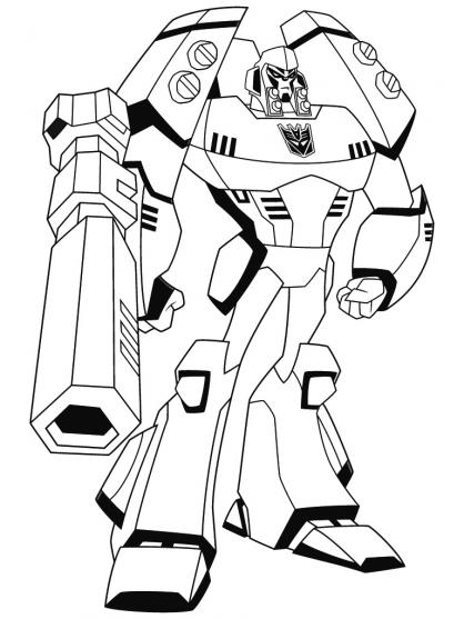 Coloriage Transformers : Mégatron
