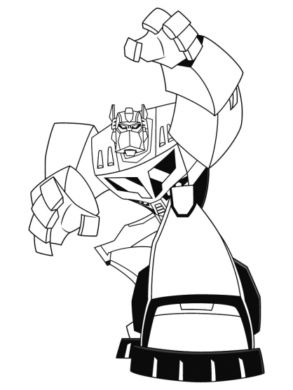 Coloriage transformers optimus prime 7 coloriage transformers coloriage dessins animes - Dessin optimus prime ...