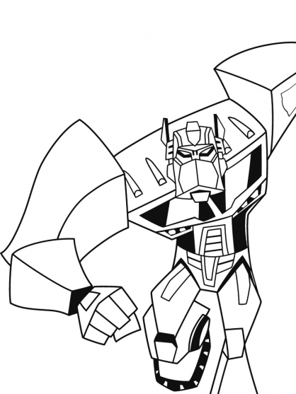 Coloriage transformers optimus prime 8 coloriage transformers coloriage dessins animes - Dessin optimus prime ...