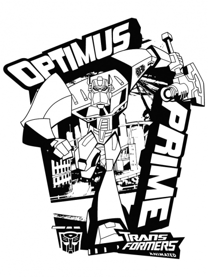 Coloriage Transformers : Optimus Prime 9
