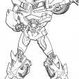 Coloriage Transformers prime Beast Hunters : Bumblebee 2