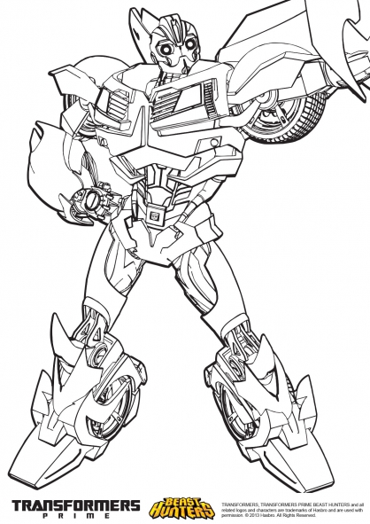 Coloriage transformers prime beast hunters bumblebee 2 - Coloriage transformers ...