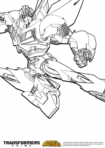 Coloriage transformers prime beast hunters bumblebee 3 - Coloriage transformers ...