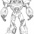 Coloriage Transformers prime Beast Hunters : Bumblebee