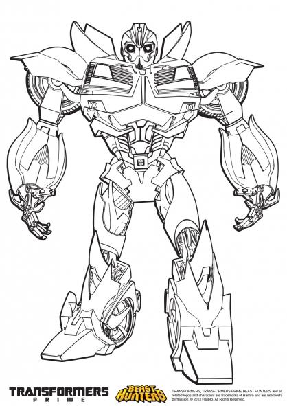 Coloriage Transformers prime Beast Hunters : Bumblebee