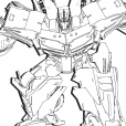 Coloriage Transformers prime Beast Hunters : Optimus Prime 2