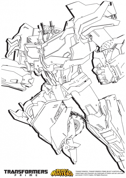 transformers prime beast hunters coloring pages transformers beast hunters free colouring pages
