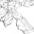 Coloriage Transformers prime Beast Hunters : Optimus Prime 4