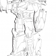 Coloriage Transformers prime Beast Hunters : Optimus Prime 5