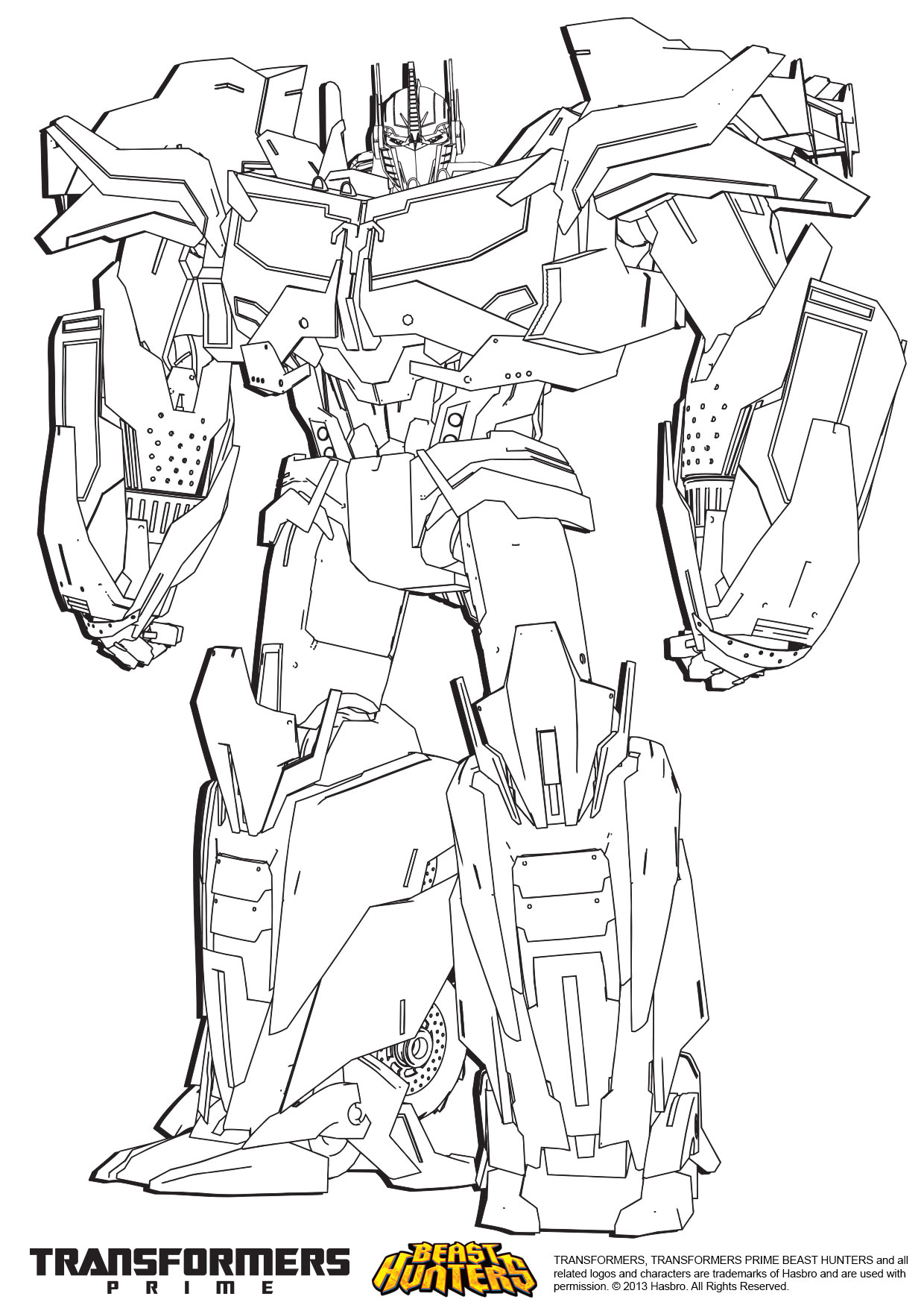 transformer prime beast hunters optimus prime drawing