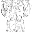 Coloriage Transformers prime Beast Hunters : Optimus Prime