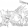 Coloriage Transformers prime Beast Hunters : Predaking 3