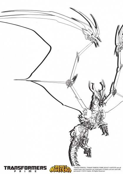 Coloriage Transformers prime Beast Hunters : Predaking 5