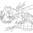 Coloriage Transformers prime Beast Hunters : Predaking 6