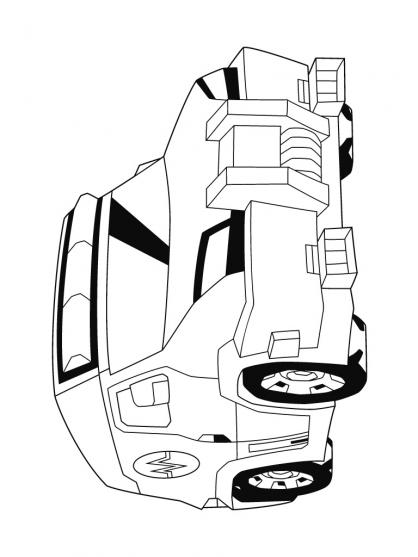 Coloriage Transformers : Ratchet 2