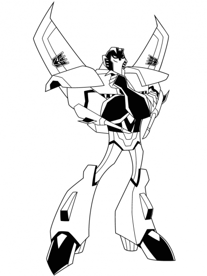 Coloriage transformers starscream 3 coloriage transformers coloriage dessins animes - Dessin optimus prime ...