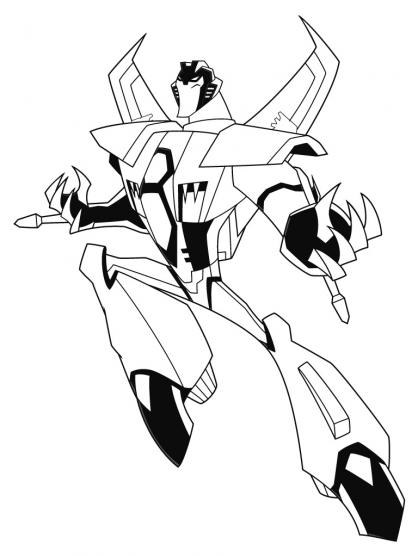 Coloriage Transformers : Starscream