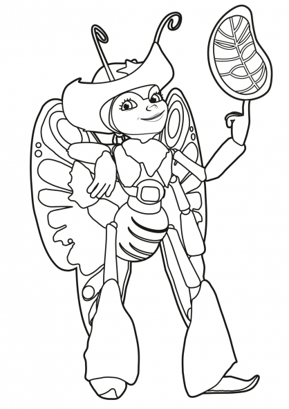 Coloriage Tree Fu Tom : Ariela