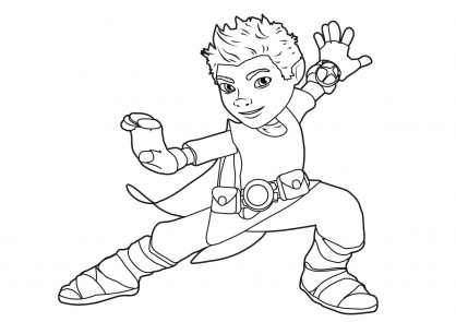 Coloriage Tree Fu Tom : Tree Fu Magie