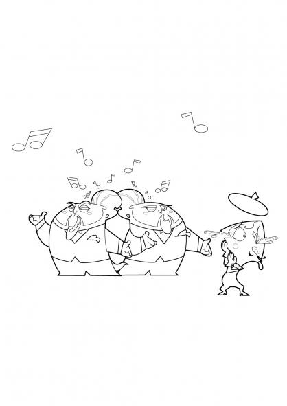 Coloriage Trio de choc 18