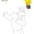 Coloriage Drôle de personnage !