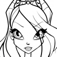 Coloriage Winx Club : Bloom et le pouvoir de la Flamme du Dragon