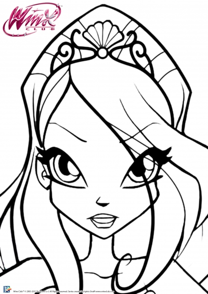 Coloriage winx club bloom et le pouvoir de la flamme du - Bloom dessin anime ...