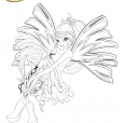 Coloriage Winx Club : Bloom, Fée de la Flamme du Dragon