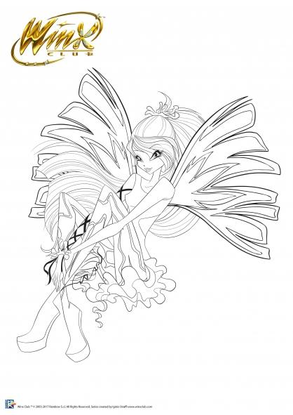 Coloriage Winx Club : Bloom, Fée de la Flamme du Dragon