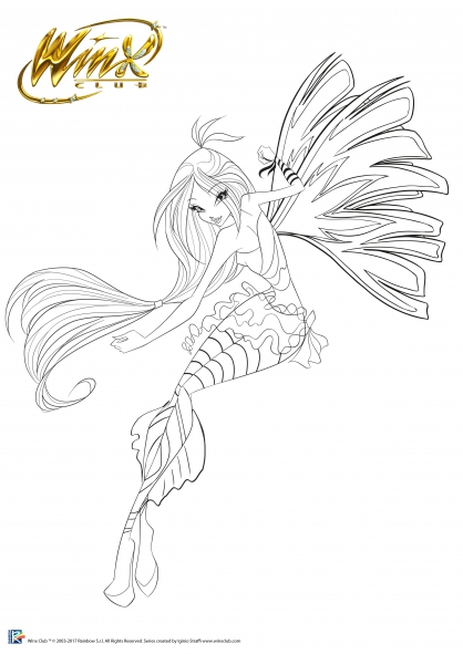 Coloriage Winx Club : Flora, Fée de la Nature