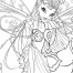 Coloriage Winx Club : Flora