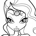 Coloriage Winx Club : Layla et les fuides