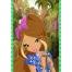 Coloriage Winx Club : Marque-page Flora