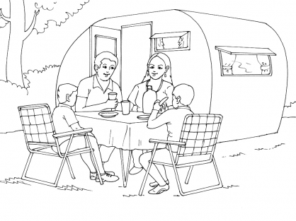 Coloriage Camping 1