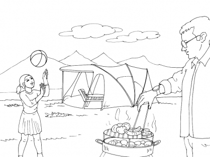 Coloriage Camping 11