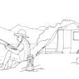 Coloriage Camping 12