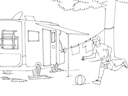 Coloriage Camping 14