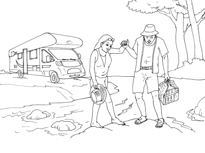 Coloriage Camping 15