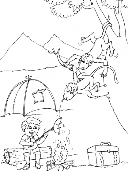 Coloriage Camping 17