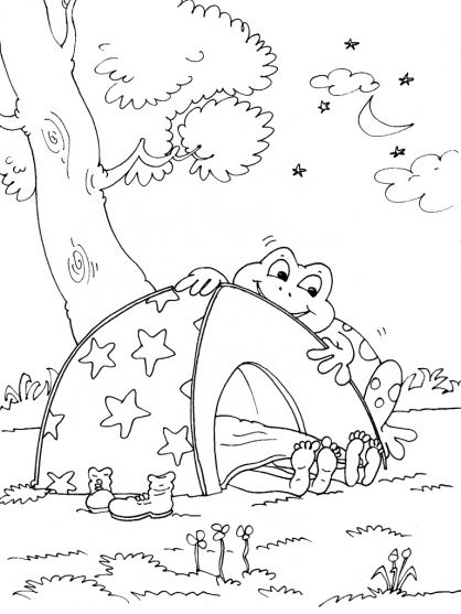 Coloriage Camping 18