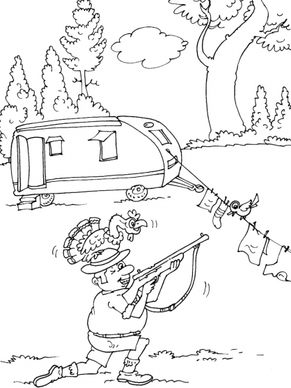 Coloriage Camping 19