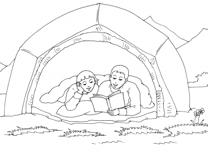 Coloriage Camping 2