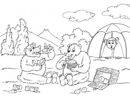 Coloriage Camping 21