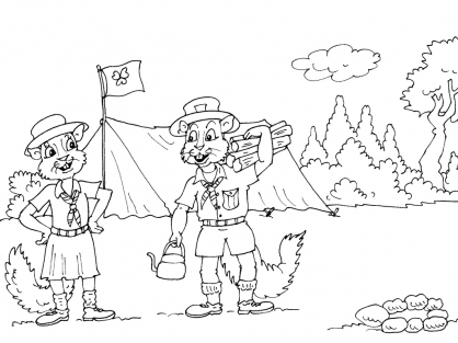 Coloriage Camping 22