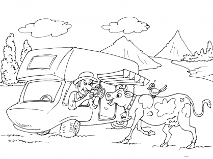 Coloriage Camping 23